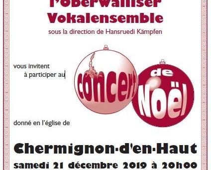 Concerts de Noël 2019 de l'Ancienne Cécilia en faveur de Music4all