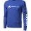 Thumbnail: Cooling Performance Dry-Fit - Long Sleeve - Royal - Distressed White Logo