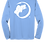 Thumbnail: Cooling Performance Dry-Fit - Long Sleeve - Lt Blue - Distressed White Logo