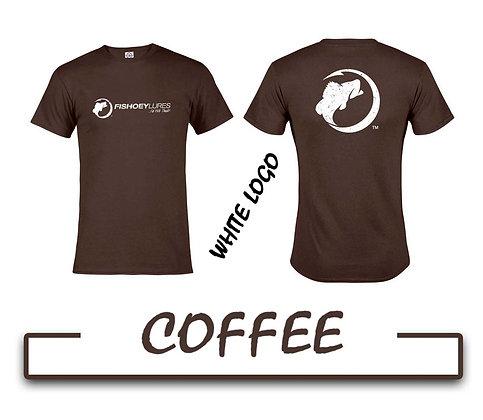 T-Shirt - Coffee - White Distressed Logos