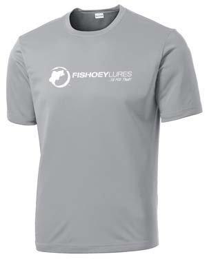 copy of Performance DRI-Fit Shirt Short Sleeve - Gray - White Logo