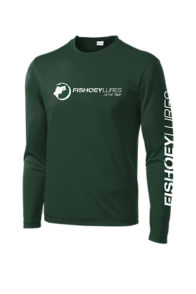 Cooling Performance Dry-Fit - Long Sleeve - Forest - Distressed White Logo