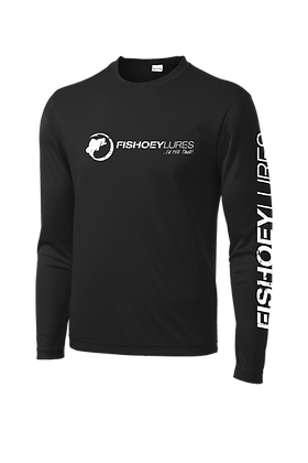 Cooling Performance Dry-Fit - Long Sleeve - Black - Distressed White Logo