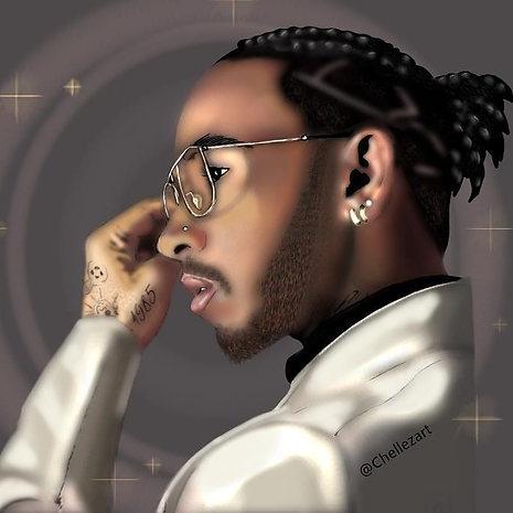 Portrait of Lewis Hamilton, Chelle Ebanks