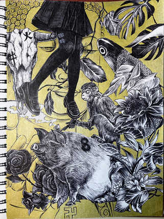 【Drawing】西遊 / art / Timelapse