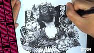【Drawing】芸能者 art/timelapse