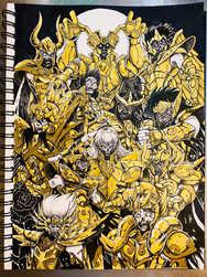 聖闘士星矢を描いてみた!