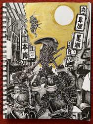 【Original】alien  / Drawing / Timelapse