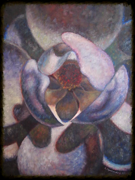 Unfolding  Karlie Markendorf, LMHC, ATR-BC. 2001. Oil on canvas
