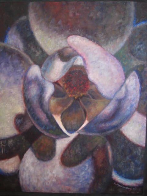 Karlie Markendorf, LMHC, ATR-BC 2001.  Oil on canvas.