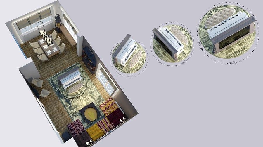 3D-визуализация подиума