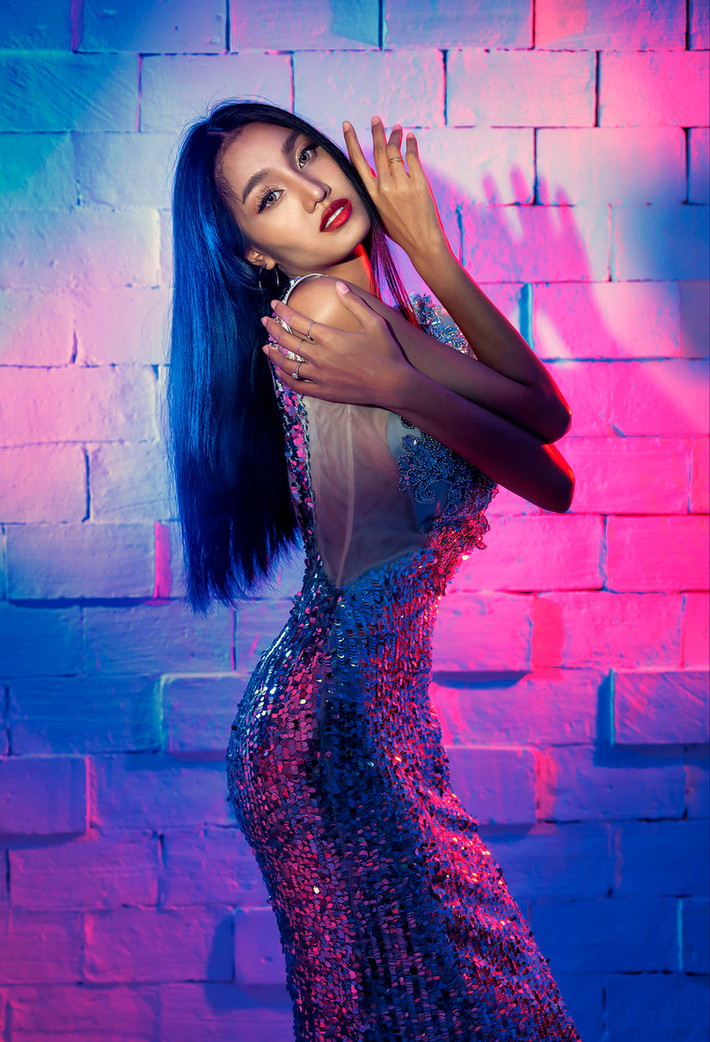 Color gels for high fashion photography