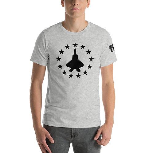 F-22 FREEDOM STARS BLACK PRINT Lightweight T-shirt