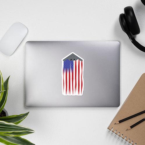 B-2A US FLAG FULL SEND STICKER