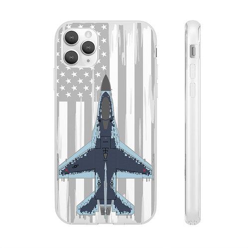 F-16C GHOST AGGRESSOR USA Flexi Phone Case