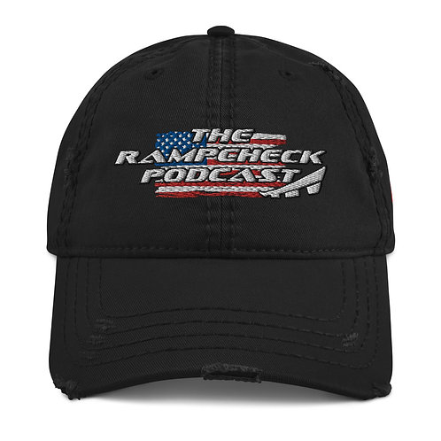 THE RAMPCHECK PODCAST USA Distressed Hat