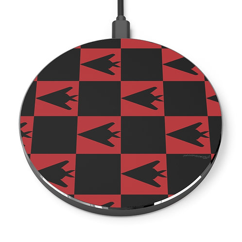 F-117 RED AND BLACK CHECKERBOARD PATTERN Wireless Charger