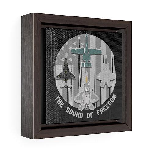 THE SOUND OF FREEDOM U. USAF ACC DEMO TEAMS Square Framed Premium Gallery Canvas
