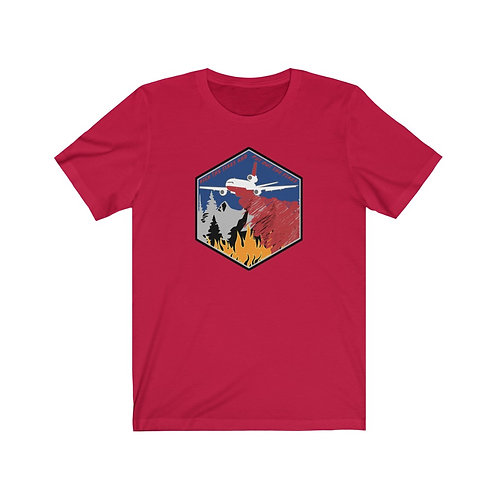 DC-10 KICK THE TIRES AND PUT OUT THE FIRES Unisex Short Sleeve T-Shirt