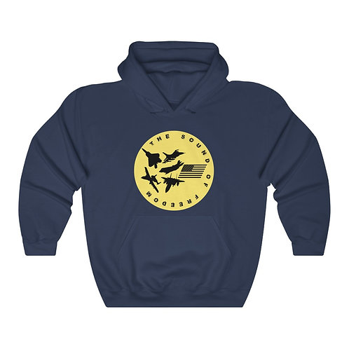 USAF FIGHTER & ATTACK THE SOUND OF FREEDOM Unisex Heavy Blend Hoodie