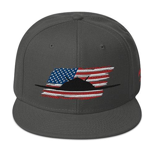 F-117 NIGHTHAWK USA Snapback Hat