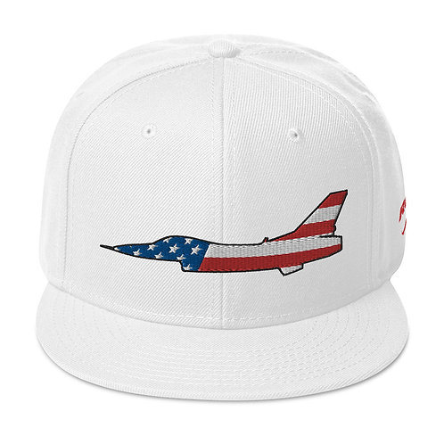 F-16 FIGHTING FALCON USA SIDE PROFILE Snapback Hat