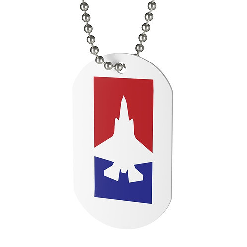 F-35A RED WHITE & BLUE Dog Tag