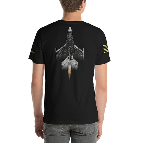 UNOFFICIAL VENOM USAF F-16C VIPER DEMO TEAM USA DISTRESSED PRINT Unisex T-Shirt