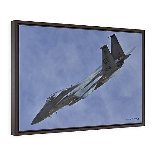 F-15C EAGLE NELLIS AFB, NEVADA Framed Premium Gallery Wrap Canvas