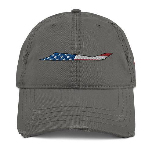 F-117 NIGHTHAWK USA SIDE PROFILE Distressed Hat