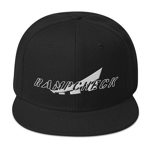 RAMPCHECK MARK WHITE THREAD Snapback Hat
