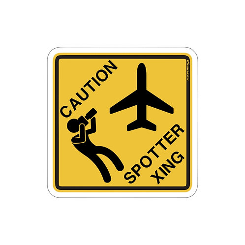 CAUTION SPOTTER XING Sticker