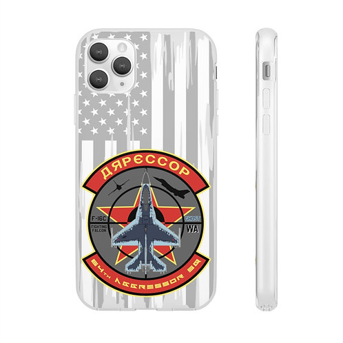 UNOFFICIAL F-16C GHOST 64TH AGGRESSOR LOGO USA Flexi Phone Case
