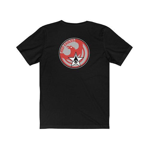 UNOFFICIAL USAF RED EAGLES MIG-23 FLOGGER FRT & BACK Unisex Short Sleeve T-Shirt