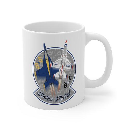 UNOFFICIAL USN BLUE ANGELS USAF THUNDERBIRDS SOLOS RULE! Ceramic Mug 11oz