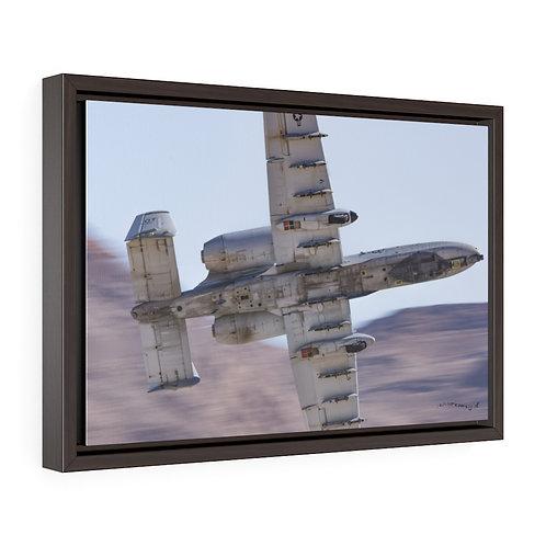 A-10 WARTHOG NELLIS AFB NV USA Framed Premium Gallery Wrap Canvas