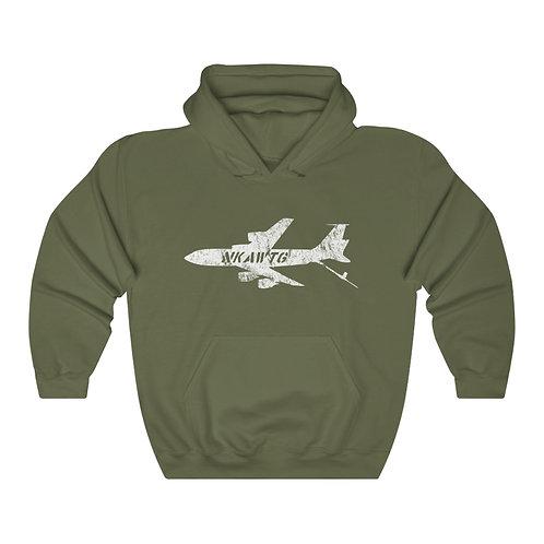 KC-135 NKAWTG WHITE PRINT Unisex Hoodie