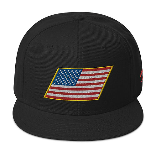 US FLAG WRAPPED IN GOLD Snapback Hat