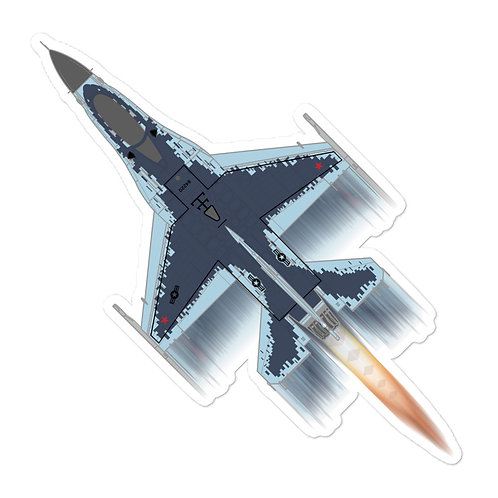 UNOFFICIAL USAF 64AGRS F-16C GHOST FULL SEND STICKER