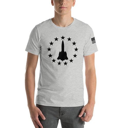 SR-71 FREEDOM STARS BLACK PRINT Lightweight T-shirt