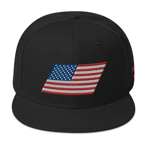 US FLAG Snapback Hat