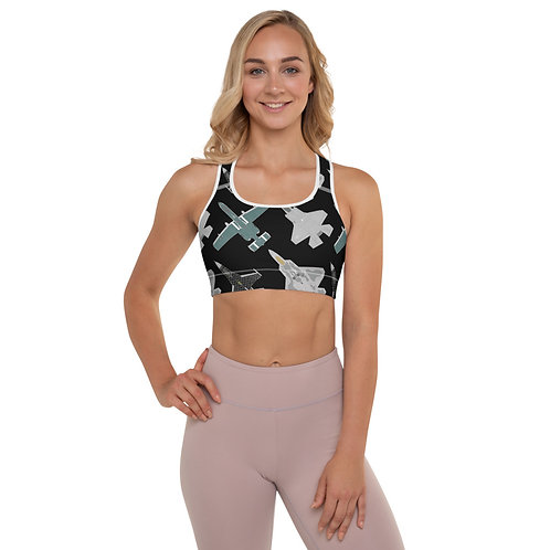UNOFFICIAL USAF ACC DEMO TEAMS Padded Sports Bra