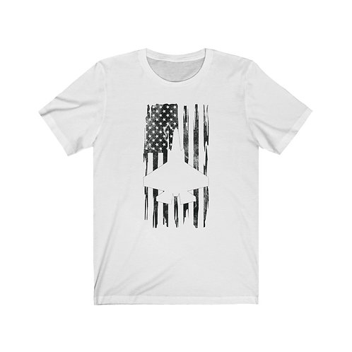 DISTRESSED BLACK PRINT F-35C US FLAG Lightweight T-shirt
