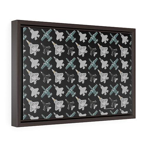UNOFFICIAL USAF ACC DEMO TEAMS Framed Premium Gallery Wrap Canvas
