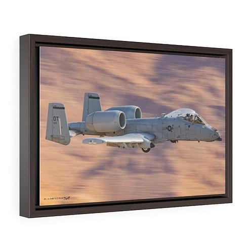 A-10 THUNDERBOLT II NELLIS AFB, NEVADA Framed Premium Gallery Wrap Canvas