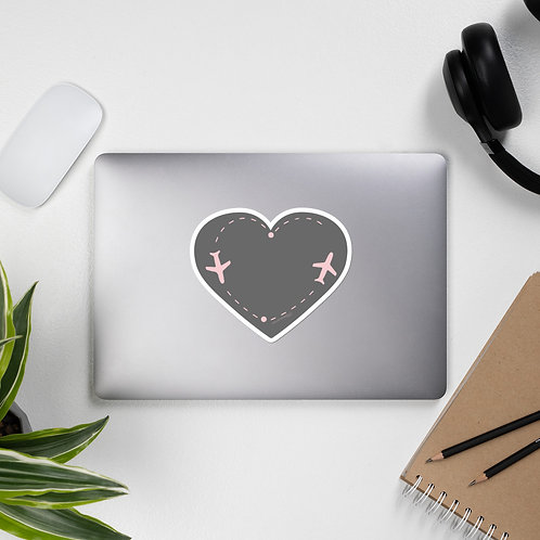 HEART AIRPLANES STICKER