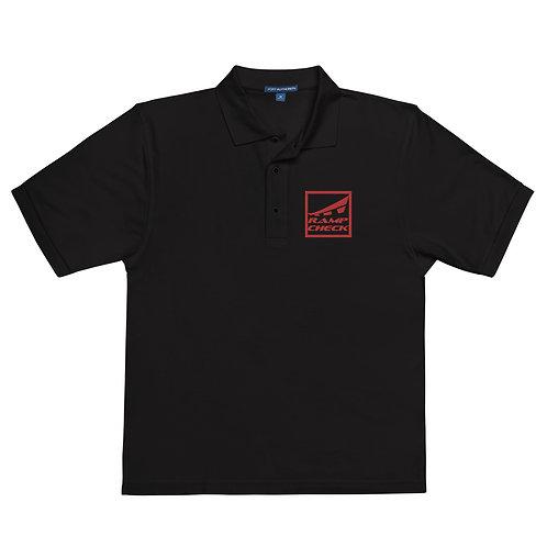 EMBROIDERED RED SQUARE RAMPCHECK LOGO Men's Premium Polo