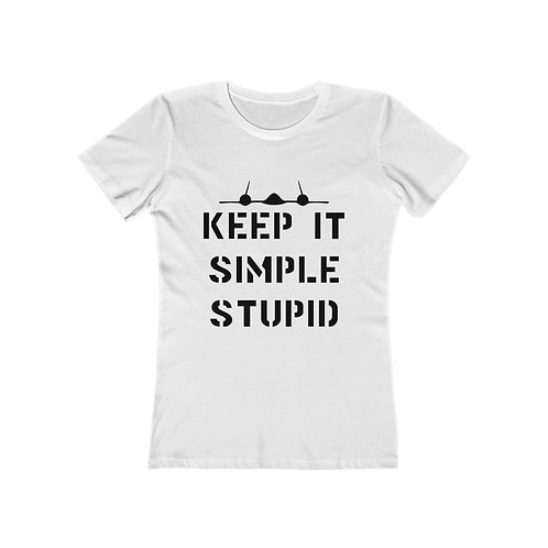 SR-71 KEEP IT SIMPLE STUPID Women's The Boyfriend T-shirt