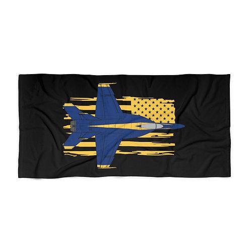 HUGE 3X6 UNOFFICIAL USN BLUE ANGELS F/A-18E SUPER HORNET USA Beach Towel