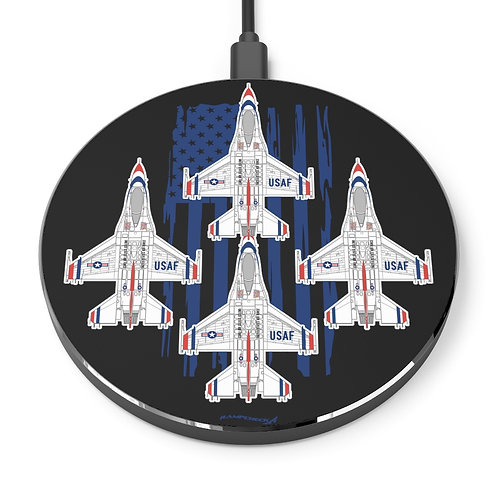 UNOFFICIAL USAF THUNDERBIRDS DIAMOND US FLAG Wireless Charger